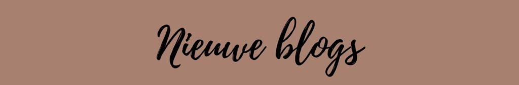 Nieuwe blogs